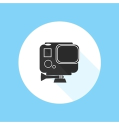 Gopro hero hd action camera pro sport silhouette vector