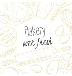 Bakery sketched in vector