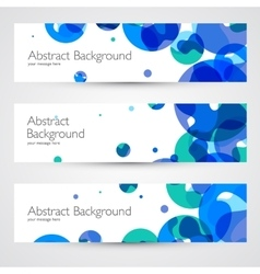 Colorful geometric abstract banners vector