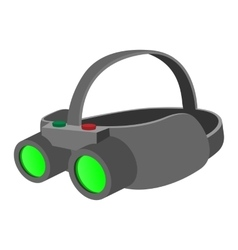 Night vision device cartoon icon vector