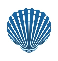 Scallop seashell of mollusks icon sign isolated vector