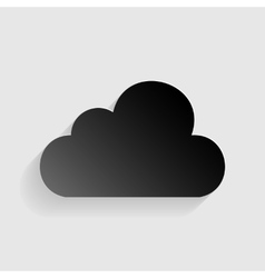 Cloud sign  black paper with shadow vector