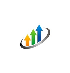 Arrow colorful chart business finance logo vector