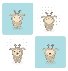baby deer vector image vector image