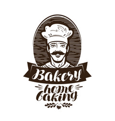 bakery bakehouse logo home baking label vintage vector image vector image