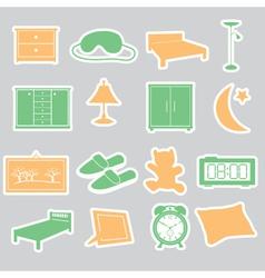 Bedroom stickers set eps10 vector