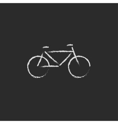 Bicycle icon drawn in chalk vector image vector image