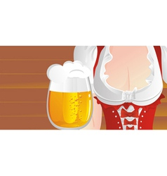 big beer mug vector image