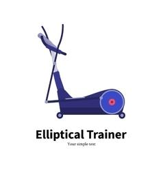 cartoon elliptical trainer vector image vector image