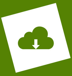 Cloud technology sign white icon obtained vector