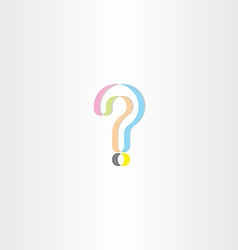 colorful question mark logo design element vector image