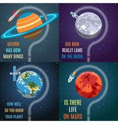 Colorful Space Flat Concepts vector image vector image