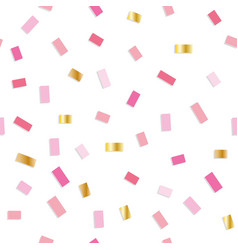 Confetti seamless pattern festive background with vector