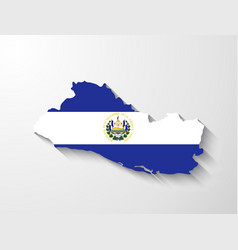 El salvador map with shadow effect vector