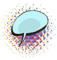 Empty speech bubble on halftone background vector