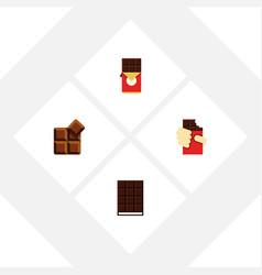 flat icon bitter set of chocolate bar dessert vector image vector image