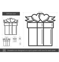 Gift box line icon vector