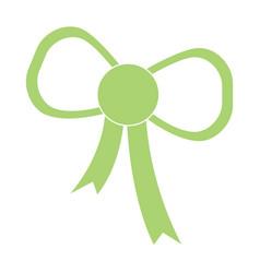 green bow icon vector image
