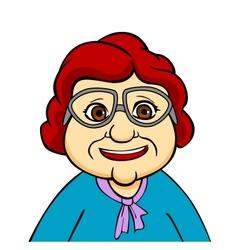 Happiness grandmother vector