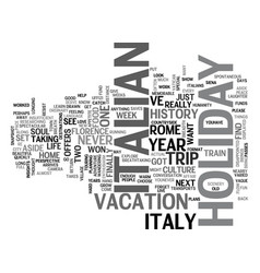 Italian holiday text background word cloud concept vector