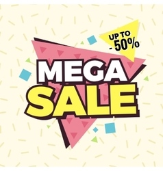 Mega sale banner Retro edition vector image vector image