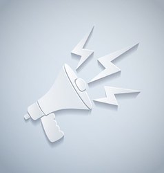 megaphone paper vector image