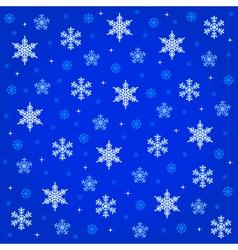 midnight snowfall vector image vector image