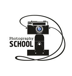 photography school camera icon vector image