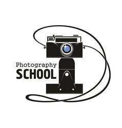 Photography school camera icon vector