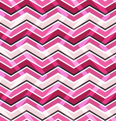 Pink zig zag seamless pattern vector
