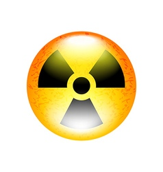 Radioactive symbol isolated on white vector image vector image