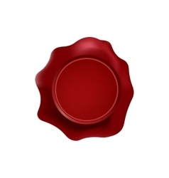 Red wax stamp with blank space for text on the vector