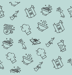 Restaurant concept icons pattern vector
