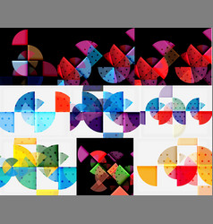 set of circle backgrounds vector image vector image