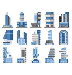 Set of office buildings vector