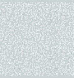 Silver grey leaves and branches seamless vector