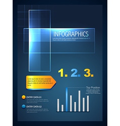 stylish infographic template vector image vector image