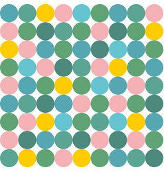 Tile pattern with pink yellow and green polka dot vector