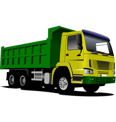 tipper isolated on white background vector image