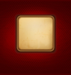 Vintage background with old paper and red wall vector