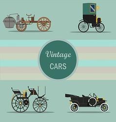 vintage car 04 vector image