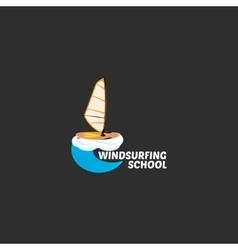 windsurfing logo vector image vector image