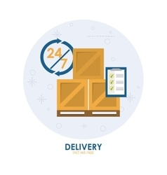 Package icon delivery and shipping vector