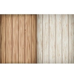 Two realistic wooden background vector