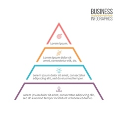 Pyramid triangle with 4 steps levels vector image