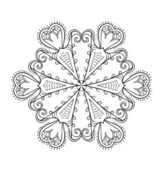 Zentangle elegant snow flake winter for decoration vector