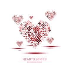 Heart series design iv vector