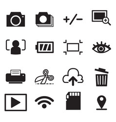 Camera mode icons symbol vector