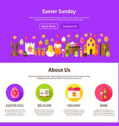 Easter sunday website design vector