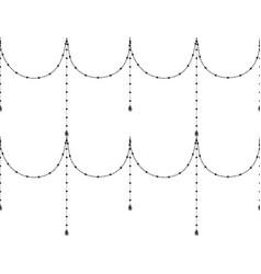 Black decorative seamless pattern vector